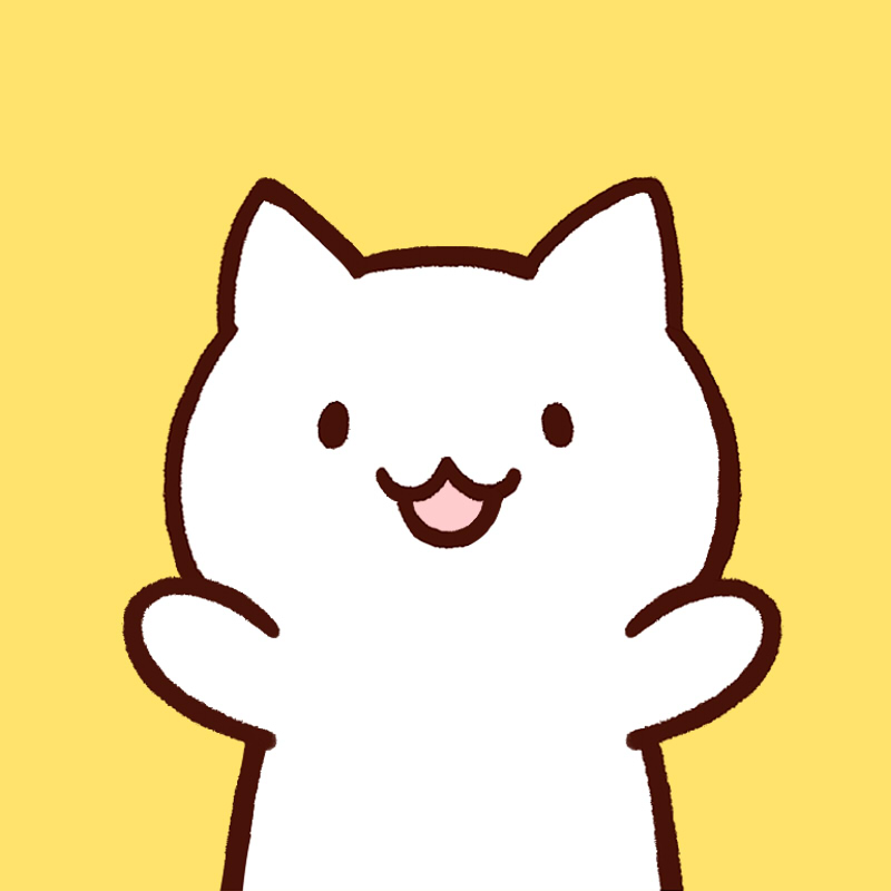 白猫のかわいいアイコン
